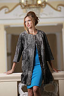 Пальто из каракульчи Swakara цвета Серебро