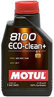 Синтетическое моторное масло MOTUL 8100 ECO-CLEAN+ 5/30 ✔ емкость: 1л.