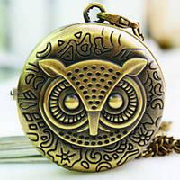Карманные часы Сова