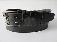 """Ремень мужской джинсовый шпенёк чёрный (кожа китай, 40 мм.) №C69597  """"Remen"""" LM-638"""