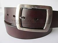 """Ремень мужской джинсовый шпенёк тёмно-коричневый (кожа китай, 40 мм.) №C69601  """"Remen"""" LM-638"""