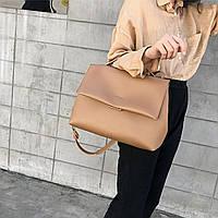 Сумка женская модная оригинальная классическая коричневая