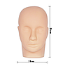 Тренировочная голова для макияжа и наращивания ресниц со штативом, фото 3