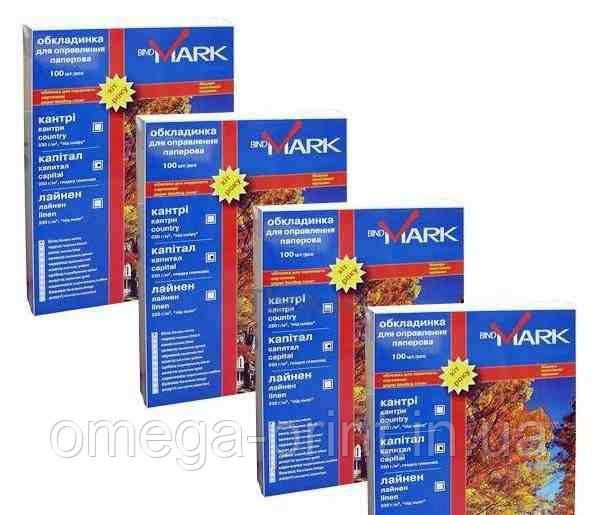 """Обложки bindMARK Кристал А4, 300/400мкн, непрозрачные черные """"песок"""", ПП"""