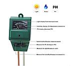 Анализатор почвы PH-метр, влагомер,люксметр для почвы механический 3 в 1, фото 2
