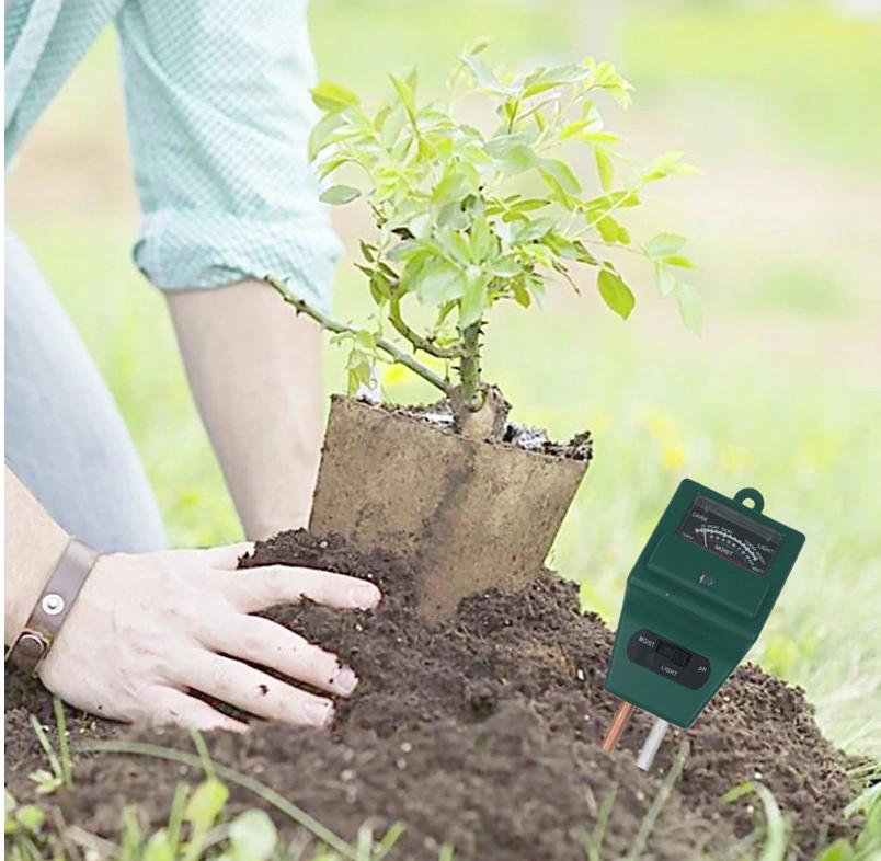 Анализатор почвы PH-метр, влагомер,люксметр для почвы механический 3 в 1