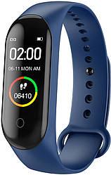 Фитнес браслет Smart Band M4 Plus (модульная зарядка) Синий