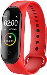 Фитнес браслет Smart Band M4 Plus (модульная зарядка) Красный