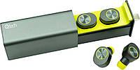 Беспроводные Bluetooth наушникиQitech Qibuds Bluetooth 5.0Green |блютуз наушники зеленые (Qibuds5.0gr), фото 1