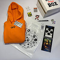 Off White Magic BOX • Худи Off White оранж • Подарочная коробка