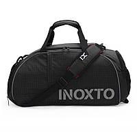 Спортивная сумка-рюкзак IX 8071 с отделом для обуви черная