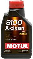 Синтетическое моторное масло MOTUL 8100 X-clean 5/30 ✔ емкость: 1л.