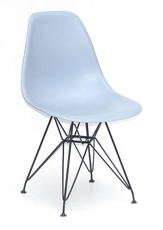 Стул обеденный пластиковый на металлических ножках   Nik  BK- ML Onder Mebli, голубой 55, фото 2