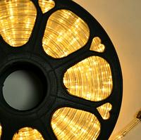 Гирлянда Шланг Дюралайт Теплый белый 2-х жильный, 10000 см, прозрачный провод, переходник (1-161)