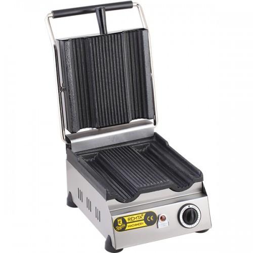 Гриль прижимной контактный R70 Remta  электрический с выемками для шаурмы