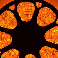 Гирлянда Шланг Дюралайт Желтый 2-х жильный, 10000 см, прозрачный провод, переходник (1-160)