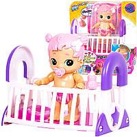 Интерактивная кукла Бизи Бабс Грейси в кроватке Gracie Little Live Bizzy Bubs Bouncing Baby Playset