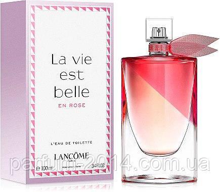 Женская туалетная вода Lancome La Vie Est Belle En Rose 100ml (реплика), фото 2