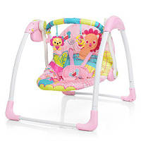 Кресло-качели Bambi 6519 Розовый с рисунком