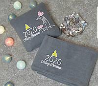 Плед в чехле 2020 год флисовый набор символикой года!