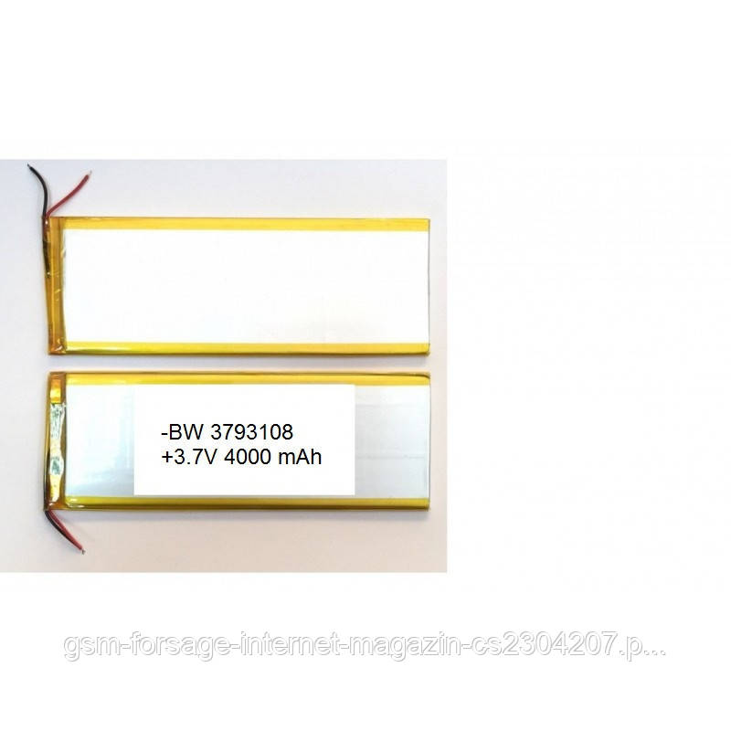 Аккумулятор универсальный 3593108P 11.0 cm х 9.5 cm 3.7v 4000 mAh