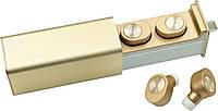 НаушникиQitech Qibuds беспроводные Bluetooth 5.0 Gold | блютуз наушники золотые (Qibuds5.0gl), фото 1