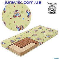 Детский матрас в кроватку кокос-поролон №1  Эконом. Чехол хлопок. Украина