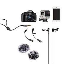 Оренда подвійний петлички COMICA CVM-D02 для камери/смартфона/GoPro, фото 2