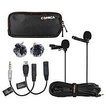 Оренда подвійний петлички COMICA CVM-D02 для камери/смартфона/GoPro, фото 3