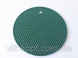 """Подставка силиконовая коврик под горячее Салфетка для чашки и тарелки """"Круг"""" d 17 cm."""