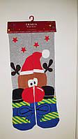 """Новогодние носки женские  зимние махровые внутри высокие  хлопок """"Ekmen """"36-41"""