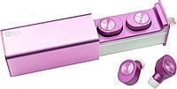 НаушникиQitech Qibuds беспроводные Bluetooth 5.0 Pink | блютуз наушники розовые (Qibuds5.0pk), фото 1