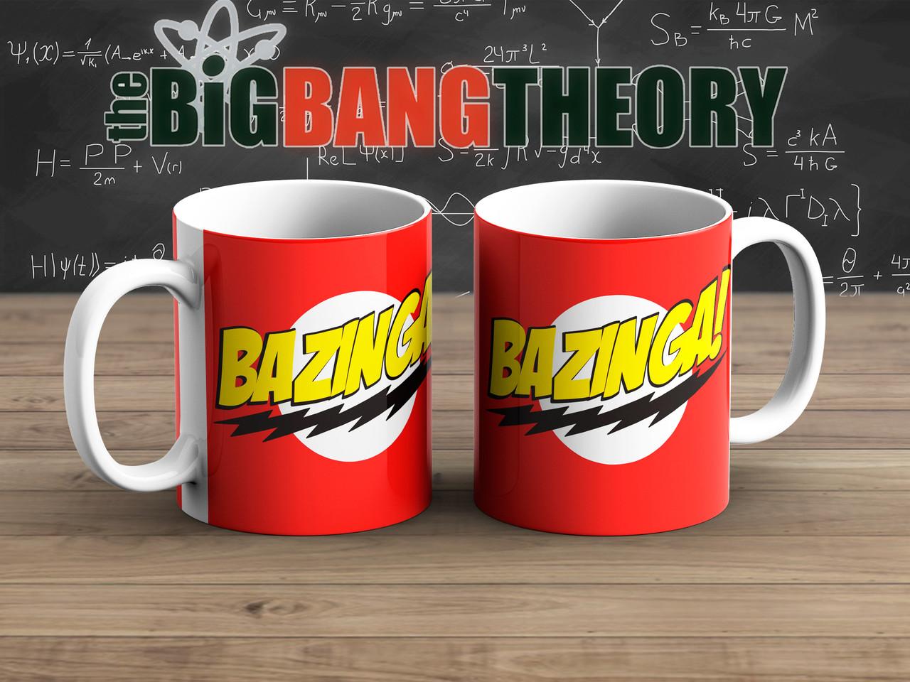 Чашка Bazinga Теория Большого взрыва / The Big Bang Theory