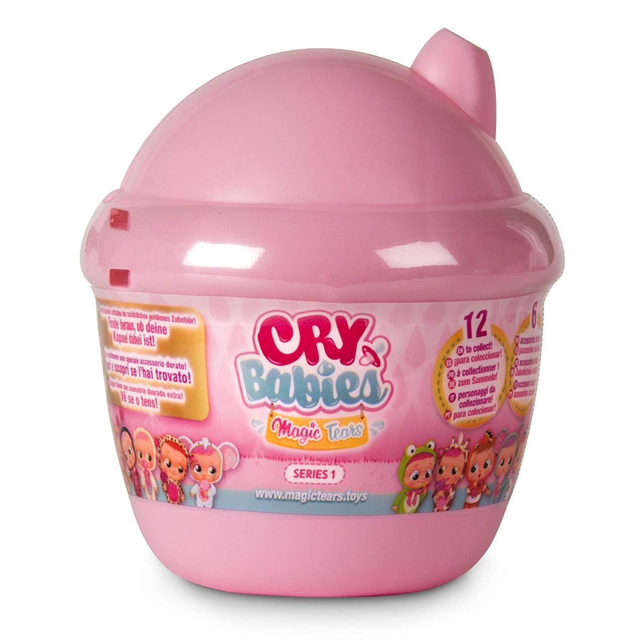 IMC Toys Cry Babies Куколка пупс-сюрприз плачущий малыш в домике Magic Tears Bottle House