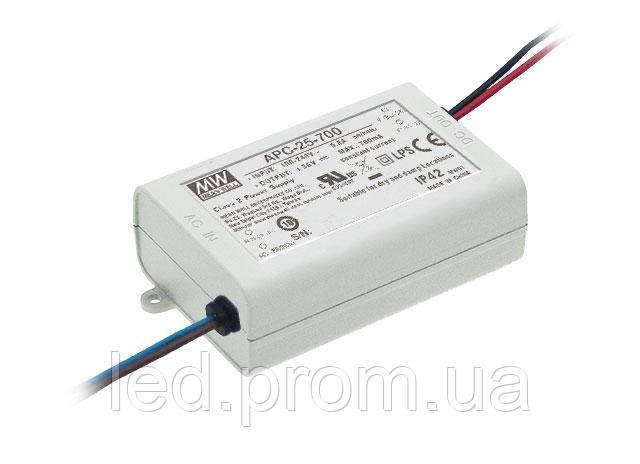 Блок питания Mean Well 25.2W DC36V IP42 (APC-25-700)