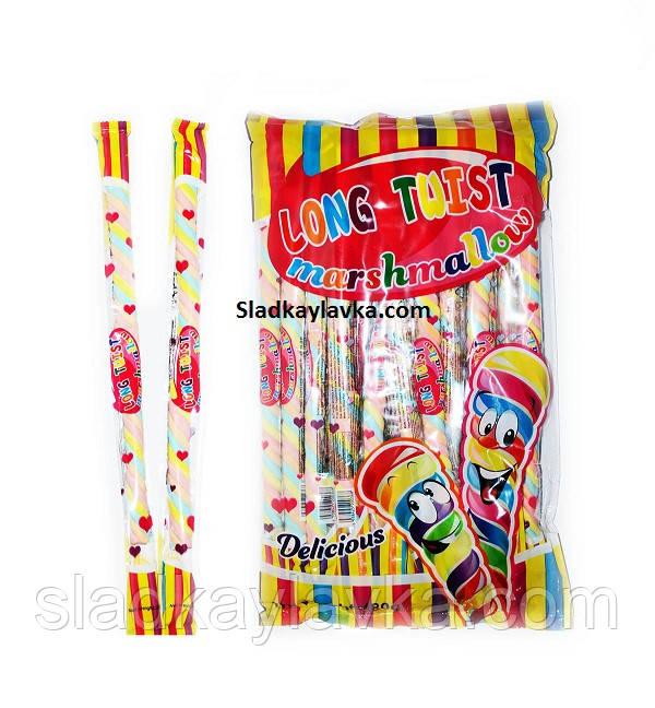 Жувальна цукерка Bay Melow зефір косичка 24 шт (Saadet)