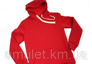 Стильне чоловіче червоне Худі, фото 2