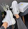 Зимние женские кроссовки Buffalo London Winter Fur Leather Platform Sneakers White Буффало белые С МЕХОМ, фото 4