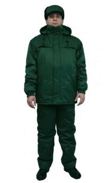 Куртка рабочая утепленная на флисе, зеленая, темно-синяя, василек