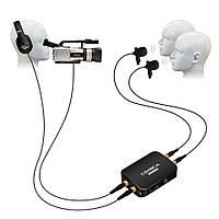 Аренда петличной проводной системы, двойной петличный микрофон для камеры и смартфона., фото 1