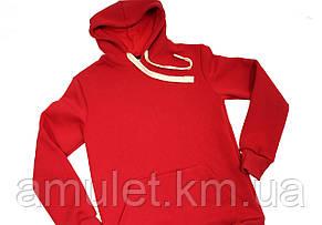 Стильне жіноче червоне Худі, фото 2