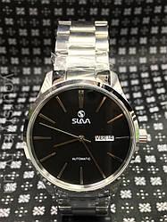 Часы Slava механика браслет серебро