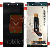 Модульный дисплей Sony G3212 Xperia XA1 Ultra Dual G3221 G3223 G3226 Экран + тачскрин черный оригинал