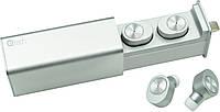 НаушникиQitech Qibuds беспроводные Bluetooth 5.0 Silver | блютуз наушники серебристые (Qibuds5.0sl), фото 1