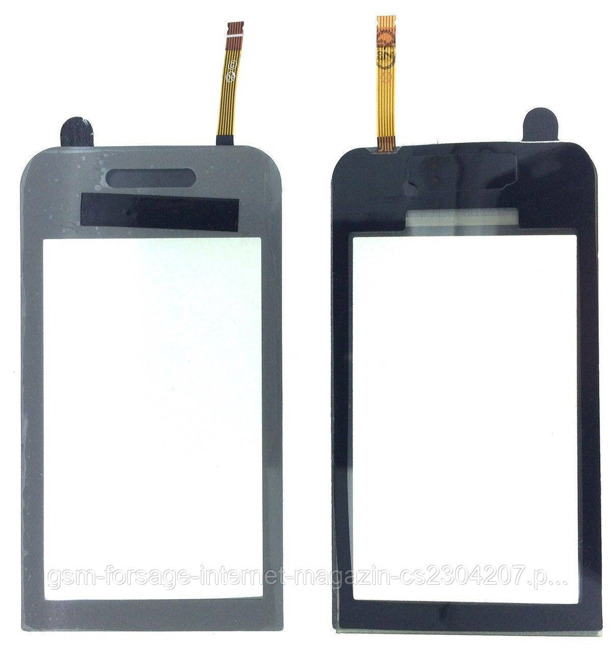 Тачскрин Samsung S5230 Silver с самоклейкой