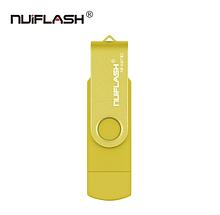 USB OTG флешка Nuiflash 64 Gb micro USB Колір Жовтий ВІДГ для телефону і комп'ютера