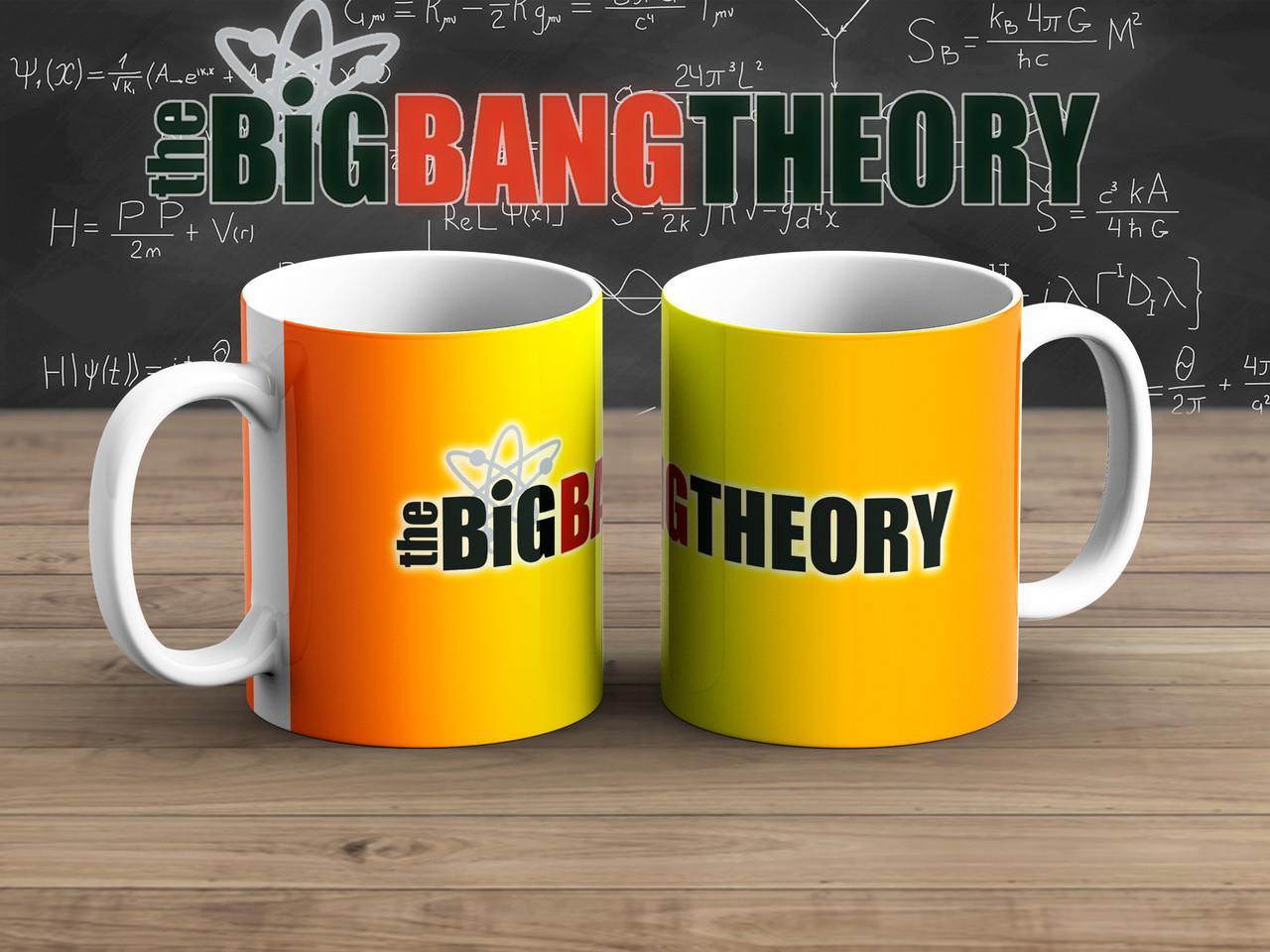 Чашка Лого на фоне градиента Теория Большого взрыва / The Big Bang Theory