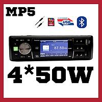 Mp5 магнитола на авто Fantom FP-3050 Black/Green Bluetooth