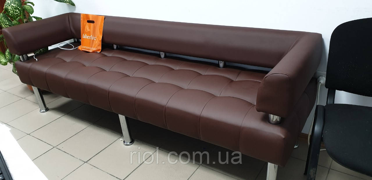 Диван офисный коричневый матовый
