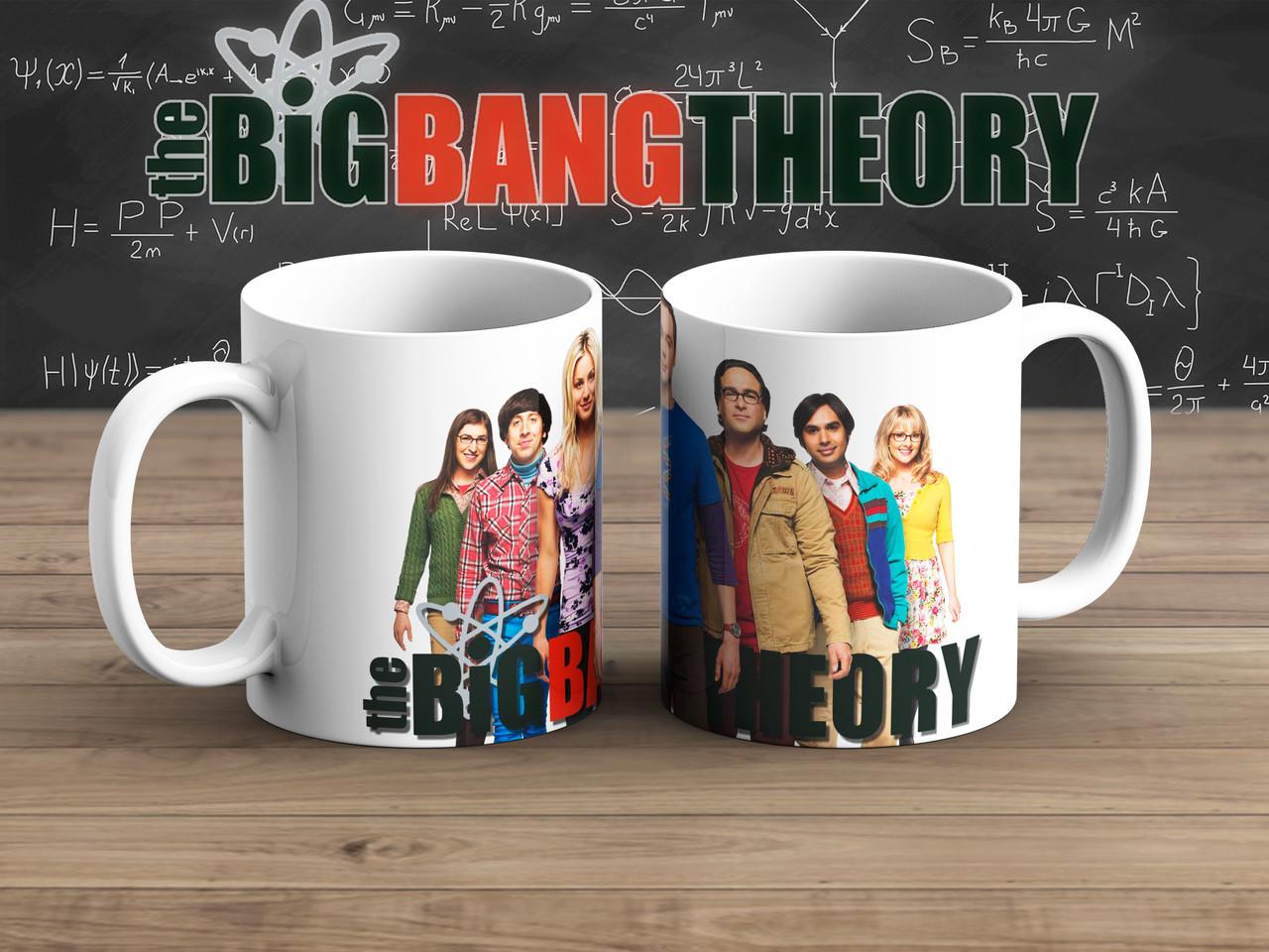 Чашка ГГ на белом Теория Большого взрыва / The Big Bang Theory